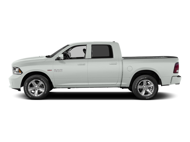 Bright White Clearcoat 2015 Ram Truck 1500 Pictures 1500 Crew Cab Laramie 4WD photos side view
