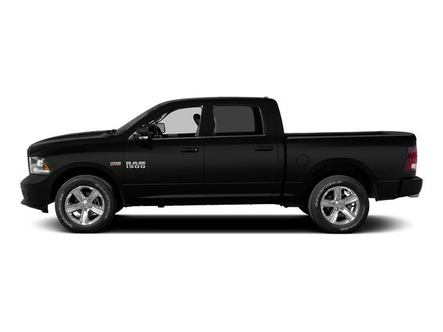 Black Clearcoat 2015 Ram Truck 1500 Pictures 1500 Crew Cab Laramie 4WD photos side view