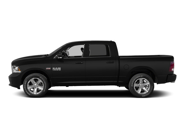 Brilliant Black Crystal Pearlcoat 2015 Ram Truck 1500 Pictures 1500 Crew Cab SSV 4WD photos side view