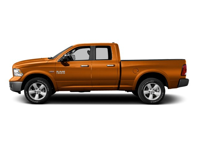 Omaha Orange 2015 Ram Truck 1500 Pictures 1500 Quad Cab Express 4WD photos side view