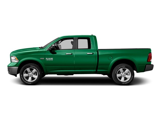 Bright Green 2015 Ram Truck 1500 Pictures 1500 Quad Cab SLT 2WD photos side view