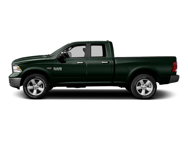Black Forest Green Pearlcoat 2015 Ram Truck 1500 Pictures 1500 Quad Cab Laramie 2WD photos side view