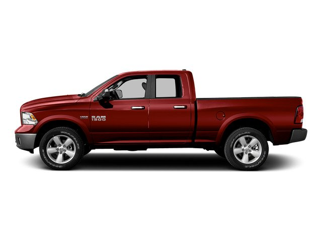 Flame Red Clearcoat 2015 Ram Truck 1500 Pictures 1500 Quad Cab SLT 4WD photos side view