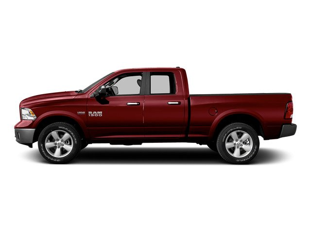 Deep Cherry Red Crystal Pearlcoat 2015 Ram Truck 1500 Pictures 1500 Quad Cab SLT 4WD photos side view