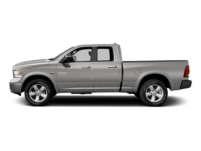 Bright Silver Metallic Clearcoat 2015 Ram Truck 1500 Pictures 1500 Quad Cab SLT 4WD photos side view
