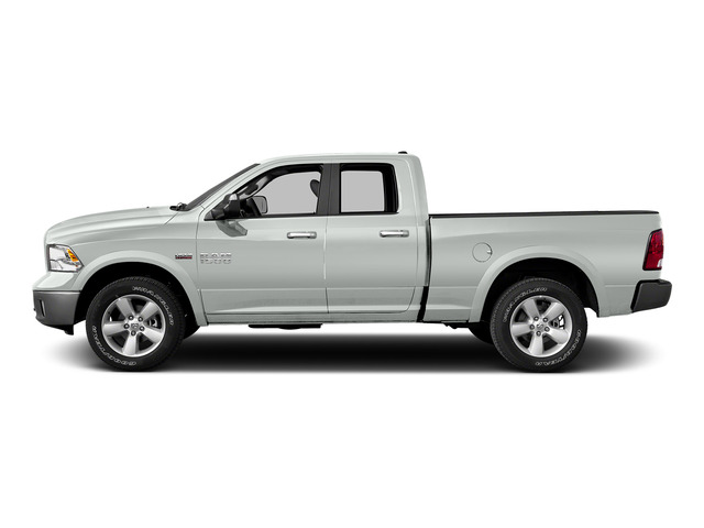 Bright White Clearcoat 2015 Ram Truck 1500 Pictures 1500 Quad Cab SLT 4WD photos side view