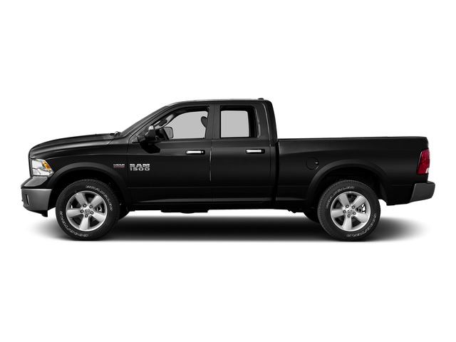 Black Clearcoat 2015 Ram Truck 1500 Pictures 1500 Quad Cab Express 4WD photos side view