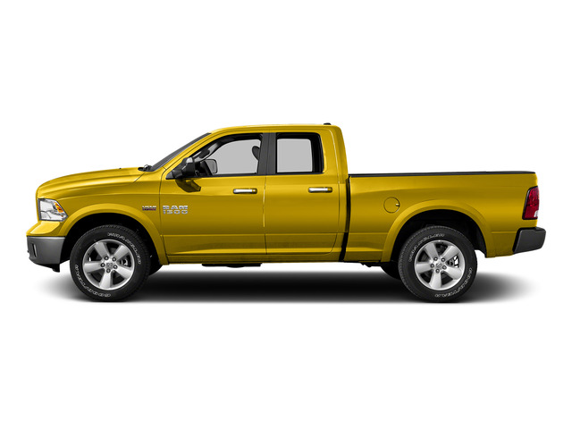 Detonator Yellow Clearcoat 2015 Ram Truck 1500 Pictures 1500 Quad Cab SLT 4WD photos side view
