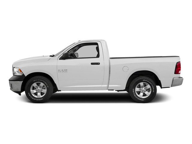 Bright White Clearcoat 2015 Ram Truck 1500 Pictures 1500 Regular Cab SLT 2WD photos side view
