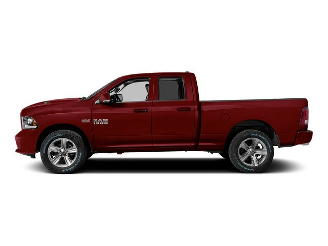 Deep Cherry Red Crystal Pearlcoat 2015 Ram Truck 1500 Pictures 1500 Quad Cab Sport 2WD photos side view