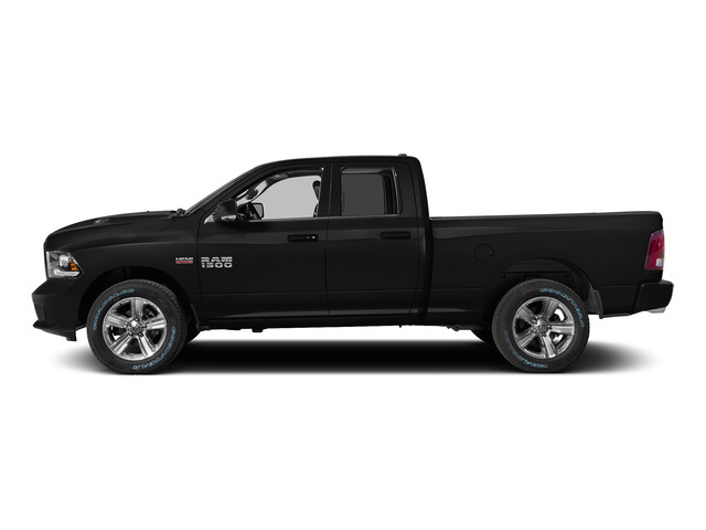 Black Clearcoat 2015 Ram Truck 1500 Pictures 1500 Quad Cab Sport 2WD photos side view