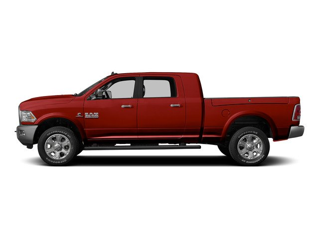 Bright Red 2015 Ram Truck 3500 Pictures 3500 Mega Cab SLT 2WD photos side view