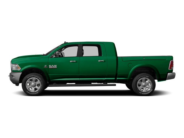 Bright Green 2015 Ram Truck 3500 Pictures 3500 Mega Cab SLT 2WD photos side view