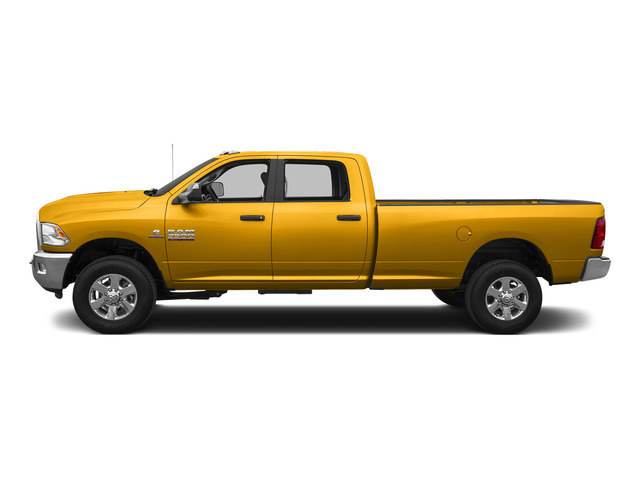 Construction Yellow 2015 Ram Truck 3500 Pictures 3500 Crew Cab SLT 2WD photos side view