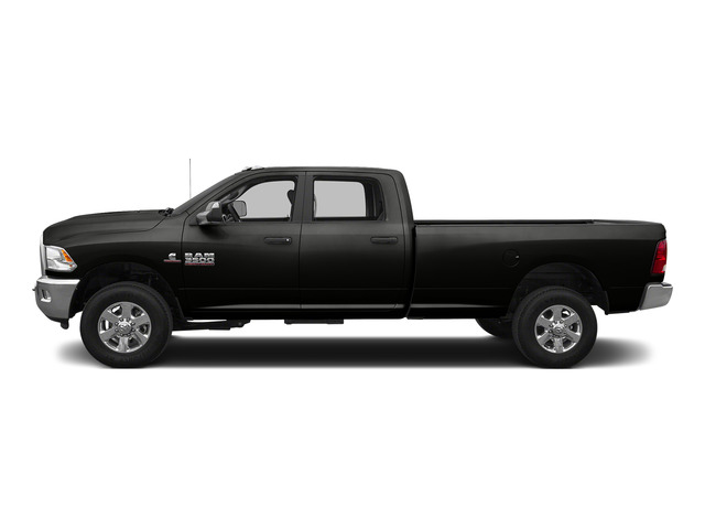 Brilliant Black Crystal Pearlcoat 2015 Ram Truck 3500 Pictures 3500 Crew Cab SLT 2WD photos side view