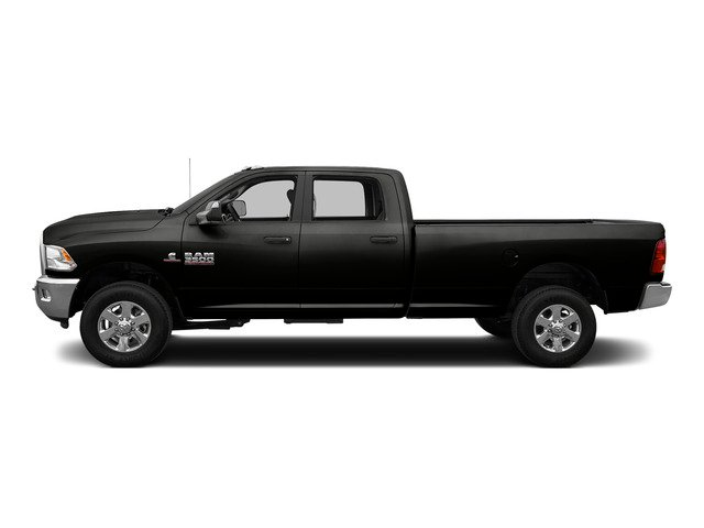 Brilliant Black Crystal Pearlcoat 2015 Ram Truck 3500 Pictures 3500 Crew Cab Laramie 4WD photos side view