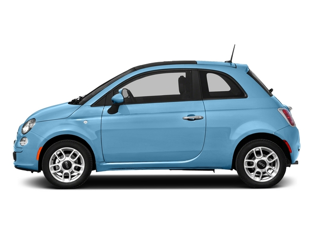 Luce Blu (Light Blue) 2015 FIAT 500 Pictures 500 Hatchback 3D Sport I4 photos side view