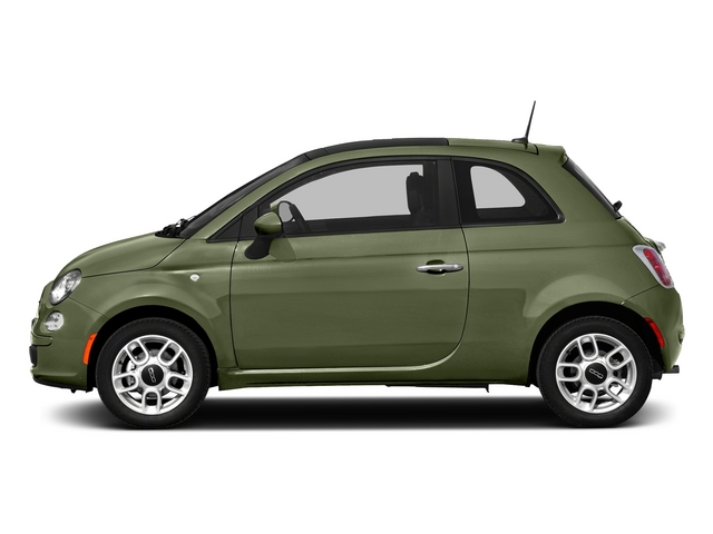 Verde Oliva (Olive Green) 2015 FIAT 500 Pictures 500 Hatchback 3D Sport I4 photos side view