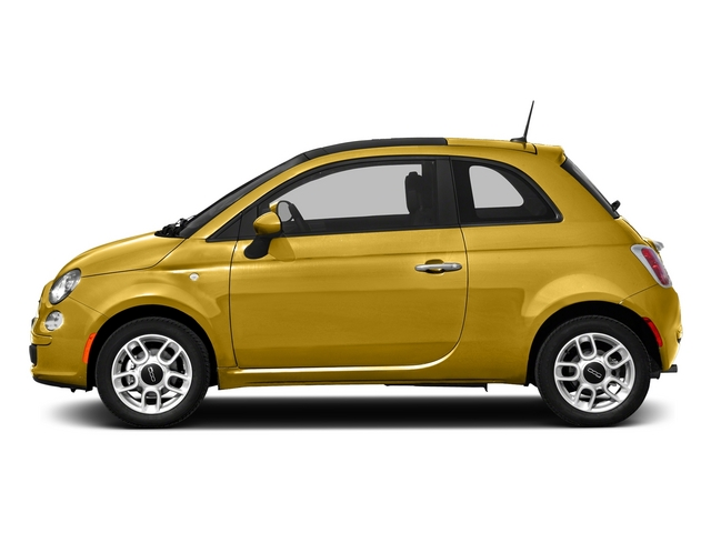 Giallo Moderna Perla (Pearl Yellow TC) 2015 FIAT 500 Pictures 500 Hatchback 3D Sport I4 photos side view