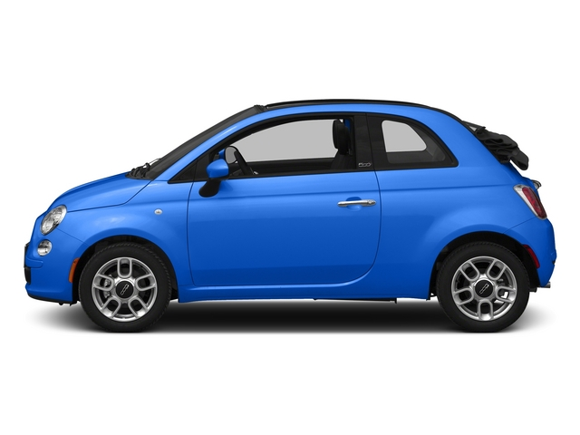 Laser Blu (Bright Met. Blue) 2015 FIAT 500c Pictures 500c Convertible 2D Lounge I4 photos side view
