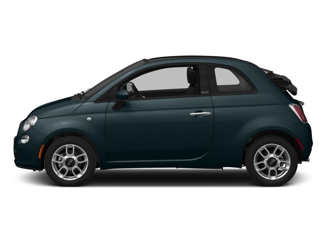 Verde Azzurro (Blue-Green) 2015 FIAT 500c Pictures 500c Convertible 2D Lounge I4 photos side view