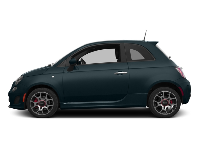 Verde Azzurro (Blue-Green) 2015 FIAT 500 Pictures 500 Hatchback 3D I4 Turbo photos side view