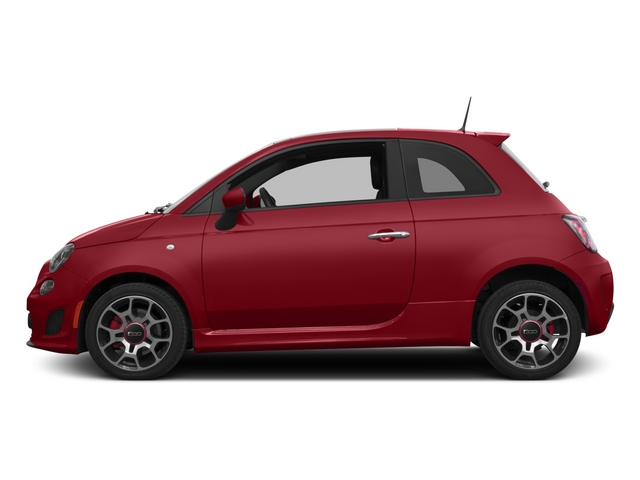 Rosso (Red) 2015 FIAT 500 Pictures 500 Hatchback 3D I4 Turbo photos side view