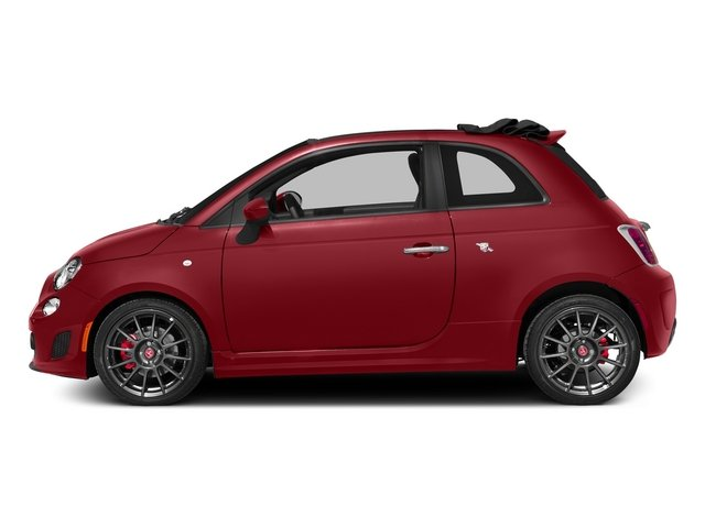 Rosso (Red) 2015 FIAT 500c Pictures 500c Convertible 2D Abarth I4 photos side view