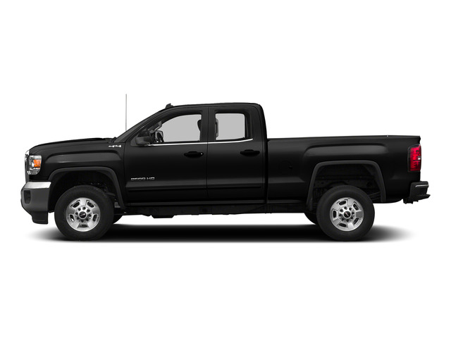 Onyx Black 2015 GMC Sierra 2500HD Pictures Sierra 2500HD Extended Cab SLT 4WD photos side view