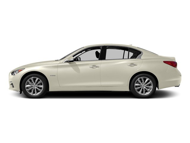 Moonlight White 2015 INFINITI Q50 Pictures Q50 Sedan 4D Premium V6 Hybrid photos side view