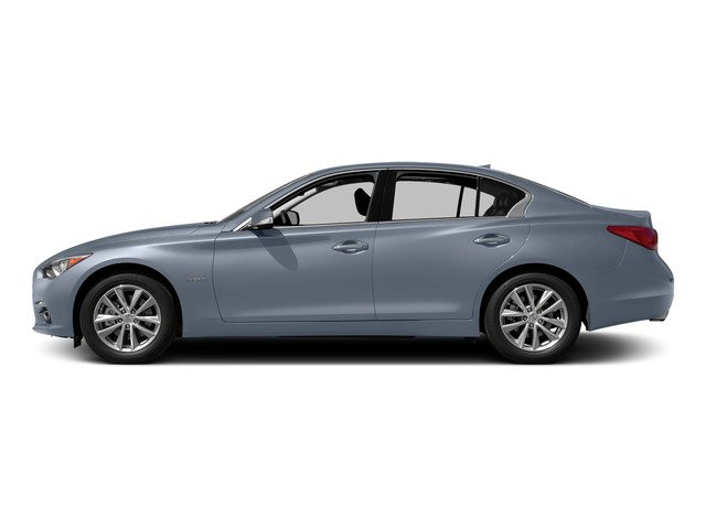 Hagane Blue 2015 INFINITI Q50 Pictures Q50 Sedan 4D Premium V6 Hybrid photos side view