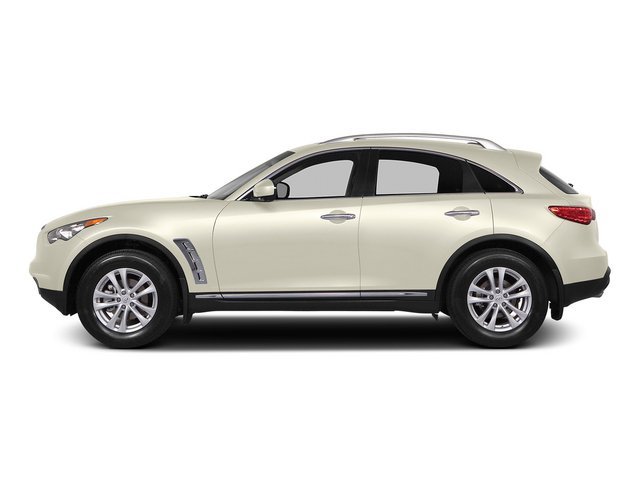 Moonlight White 2015 INFINITI QX70 Pictures QX70 Utility 4D 2WD V6 photos side view