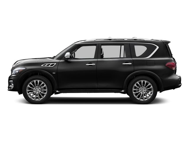 Black Obsidian 2015 INFINITI QX80 Pictures QX80 Utility 4D AWD V8 photos side view