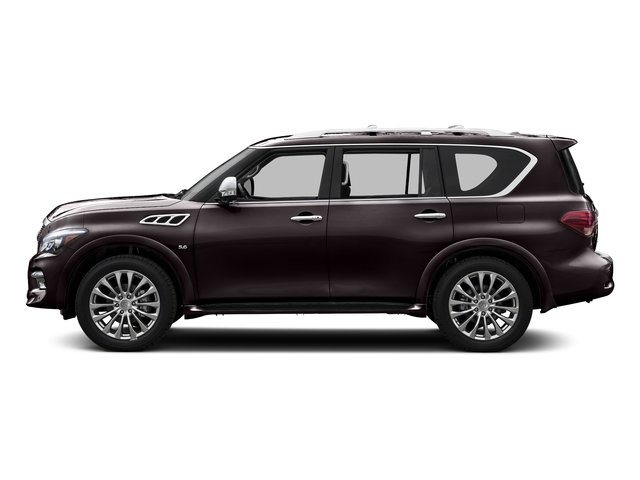 Dark Currant 2015 INFINITI QX80 Pictures QX80 Utility 4D AWD V8 photos side view