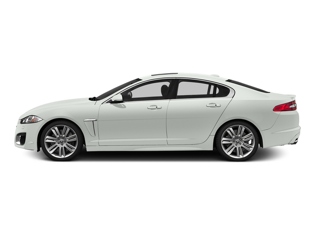 Polaris White 2015 Jaguar XF Pictures XF Sedan 4D XFR V8 Supercharged Speed photos side view