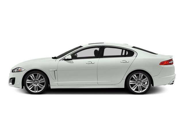 Polaris White 2015 Jaguar XF Pictures XF Sedan 4D XFR V8 Supercharged photos side view