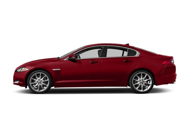 Italian Racing Red 2015 Jaguar XF Pictures XF Sed 4D Portfolio AWD V6 Supercharged photos side view