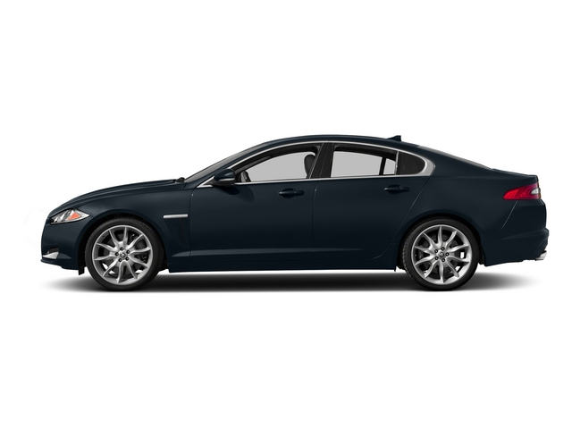 Dark Sapphire Metallic 2015 Jaguar XF Pictures XF Sedan 4D Portfolio V6 Supercharged photos side view