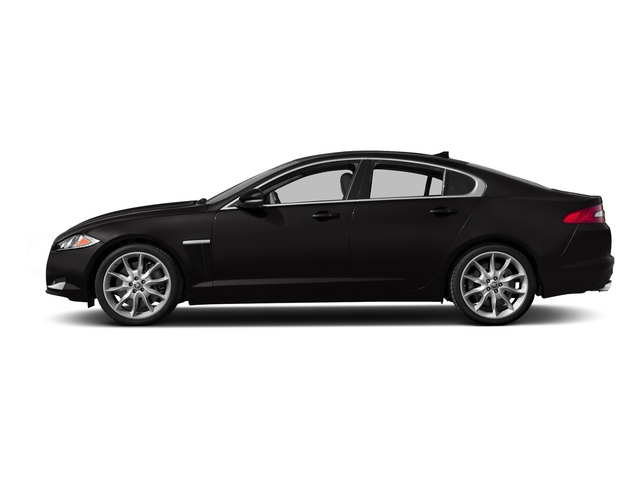 Ultimate Black Metallic 2015 Jaguar XF Pictures XF Sedan 4D Portfolio V6 Supercharged photos side view