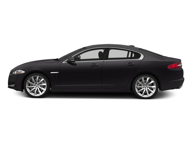 Ultimate Black Metallic 2015 Jaguar XF Pictures XF Sedan 4D V8 Supercharged photos side view
