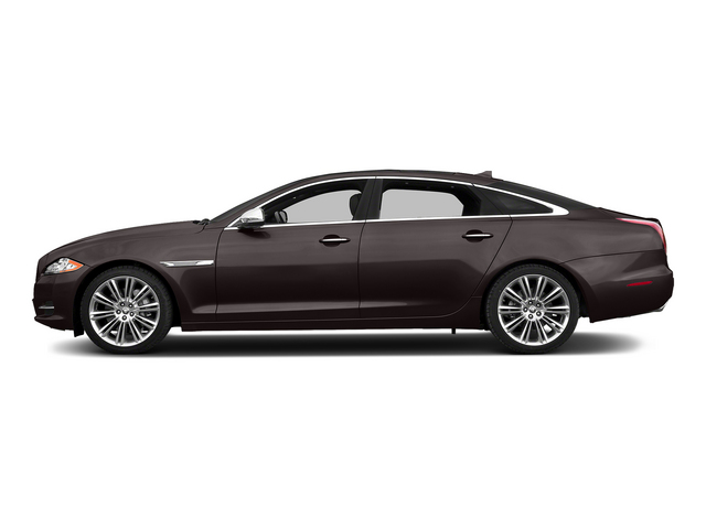Caviar Metallic 2015 Jaguar XJ Pictures XJ Sedan 4D L Supercharged Speed V8 photos side view