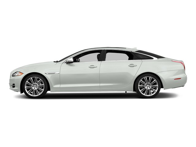 Polaris White 2015 Jaguar XJ Pictures XJ Sedan 4D L Supercharged Speed V8 photos side view
