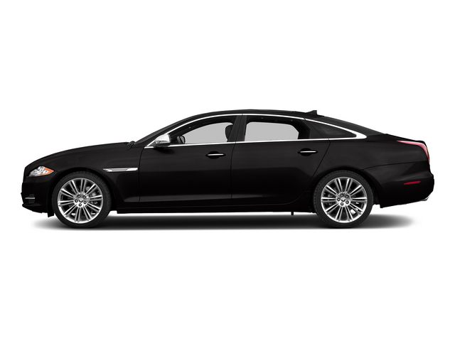Ultimate Black Metallic 2015 Jaguar XJ Pictures XJ Sedan 4D L Supercharged Speed V8 photos side view