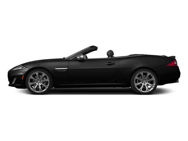 Ultimate Black Metallic 2015 Jaguar XK Pictures XK Convertible 2D XKR V8 Supercharged photos side view
