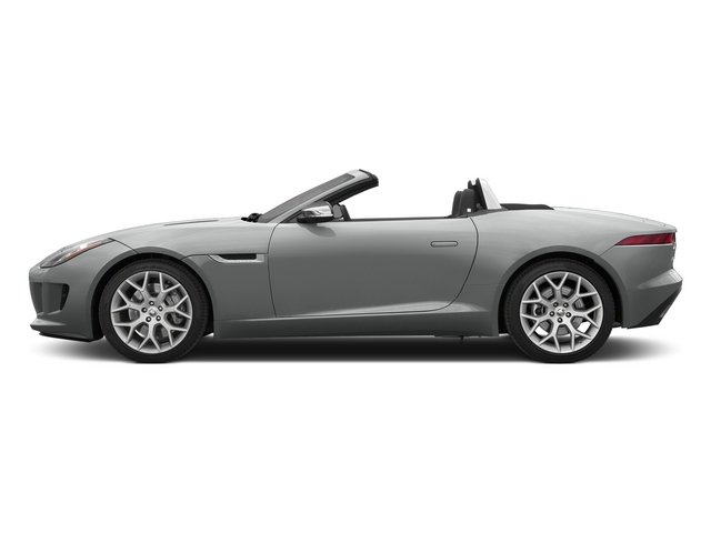 Rhodium Silver Metallic 2015 Jaguar F-TYPE Pictures F-TYPE Convertible 2D V6 photos side view