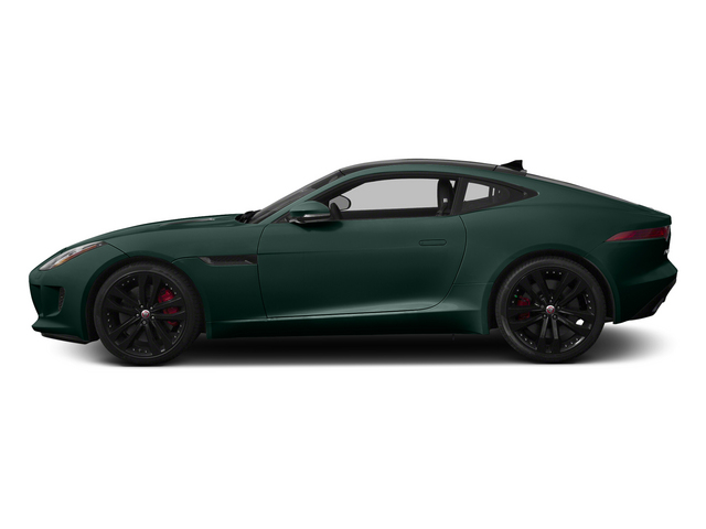 British Racing Green 2015 Jaguar F-TYPE Pictures F-TYPE Coupe 2D S V6 photos side view