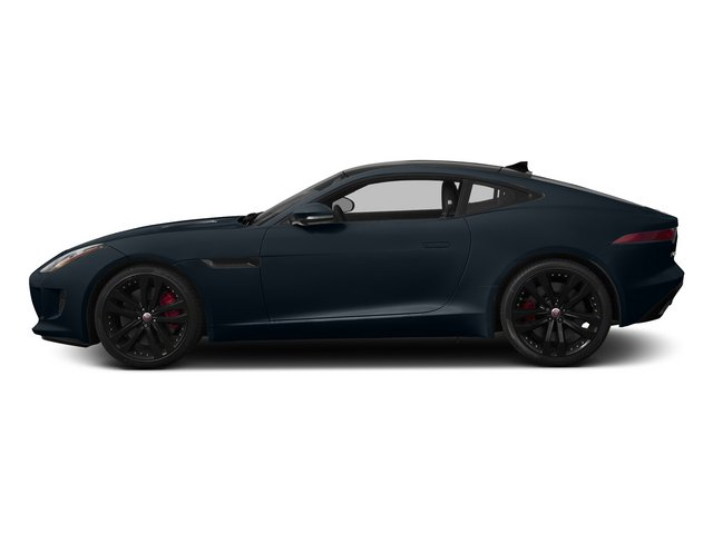 Dark Sapphire Metallic 2015 Jaguar F-TYPE Pictures F-TYPE Coupe 2D R V8 photos side view