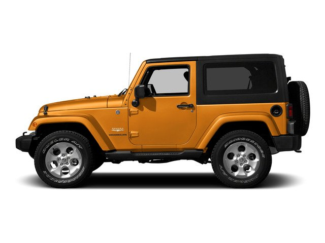 Sunset Orange Pearlcoat 2015 Jeep Wrangler Pictures Wrangler Utility 2D Sahara 4WD V6 photos side view