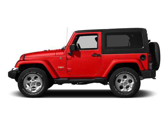 Firecracker Red Clear Coat 2015 Jeep Wrangler Pictures Wrangler Utility 2D Sahara 4WD V6 photos side view