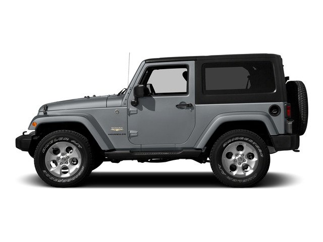 Billet Silver Metallic Clearcoat 2015 Jeep Wrangler Pictures Wrangler Utility 2D Sahara 4WD V6 photos side view